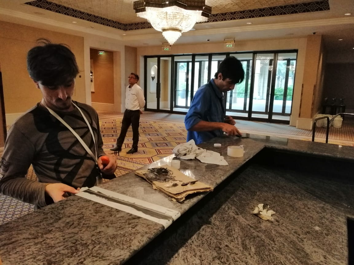 Marble Counter Top Installation Jumeirah Madinat Jumeirah