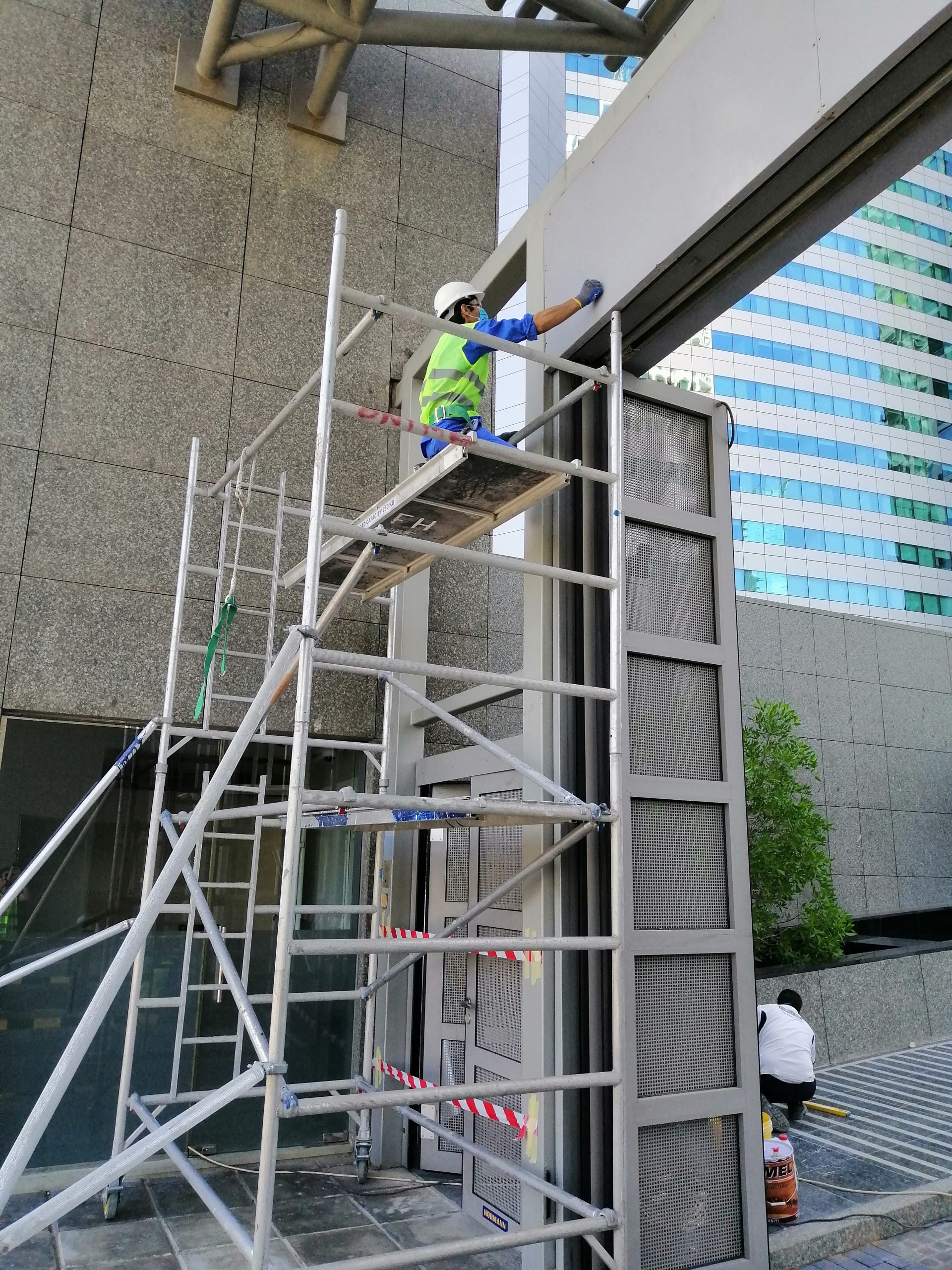 Main Entrance Gate Painting at World trade Centre Residence