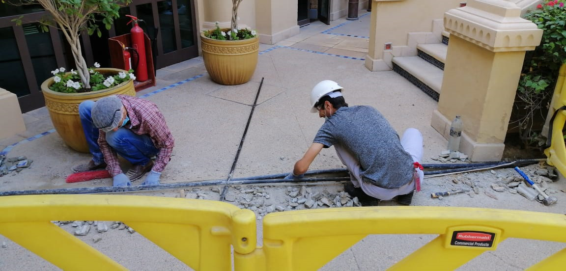 Conduits Installation Civil Work at The Palace Hotel Downtown