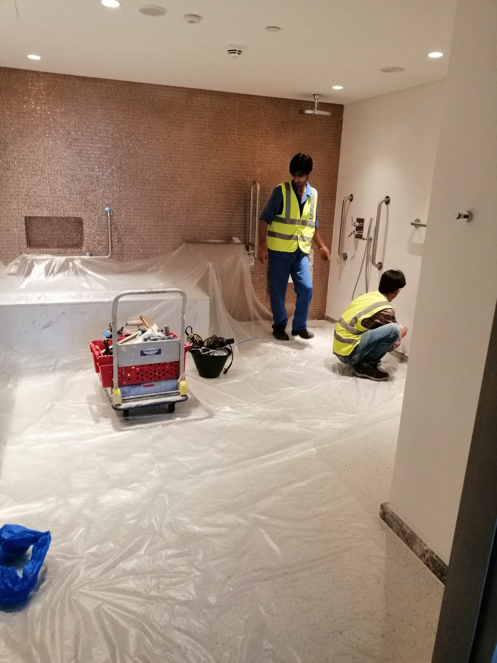 Marble Cladding/Wall Covering in Suite Room Washrooms at Jumeirah Beach Hotel
