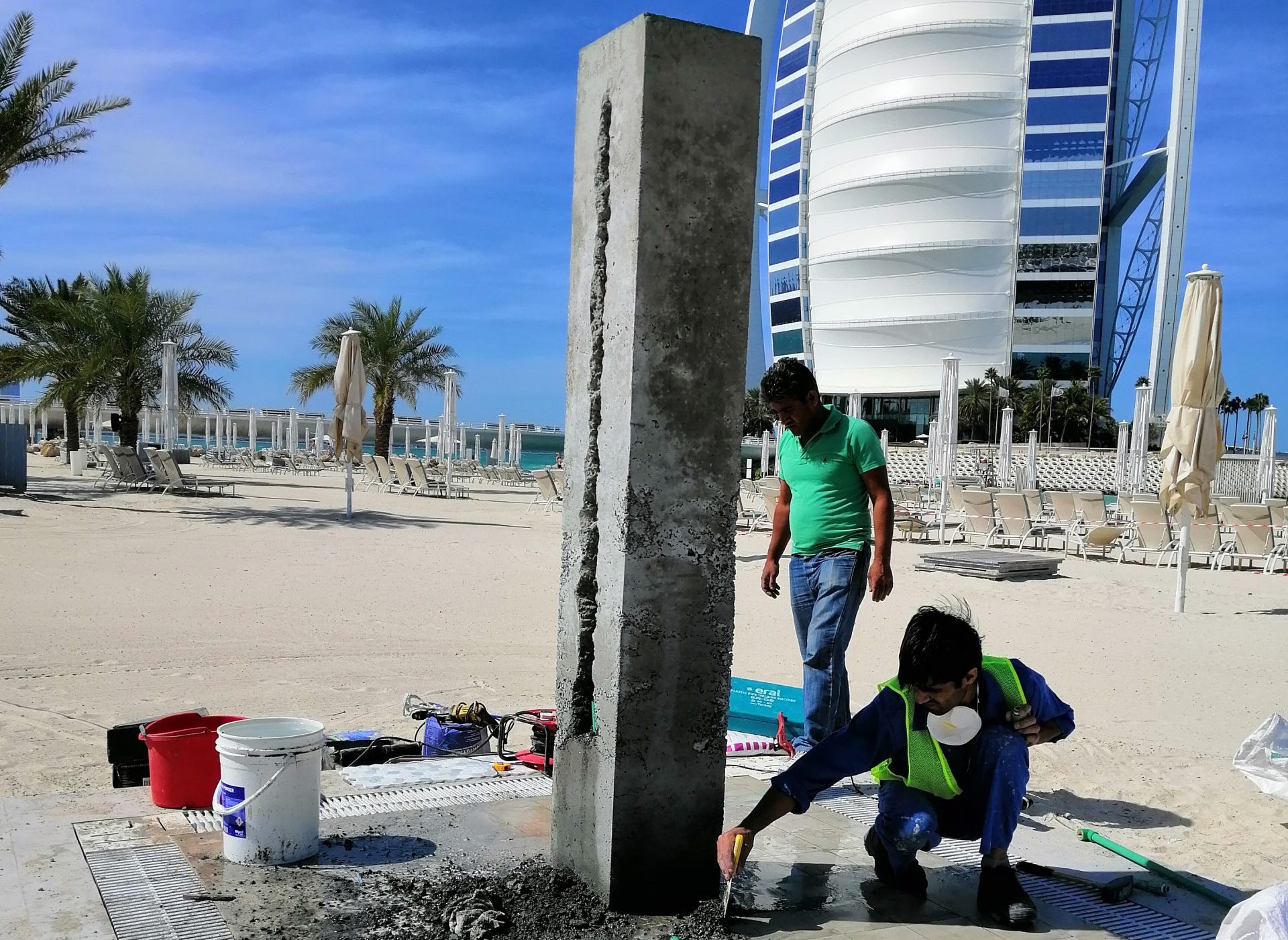 Demolishing and Rebuilding of Beach Shower at Jumeirah Beach Hotel