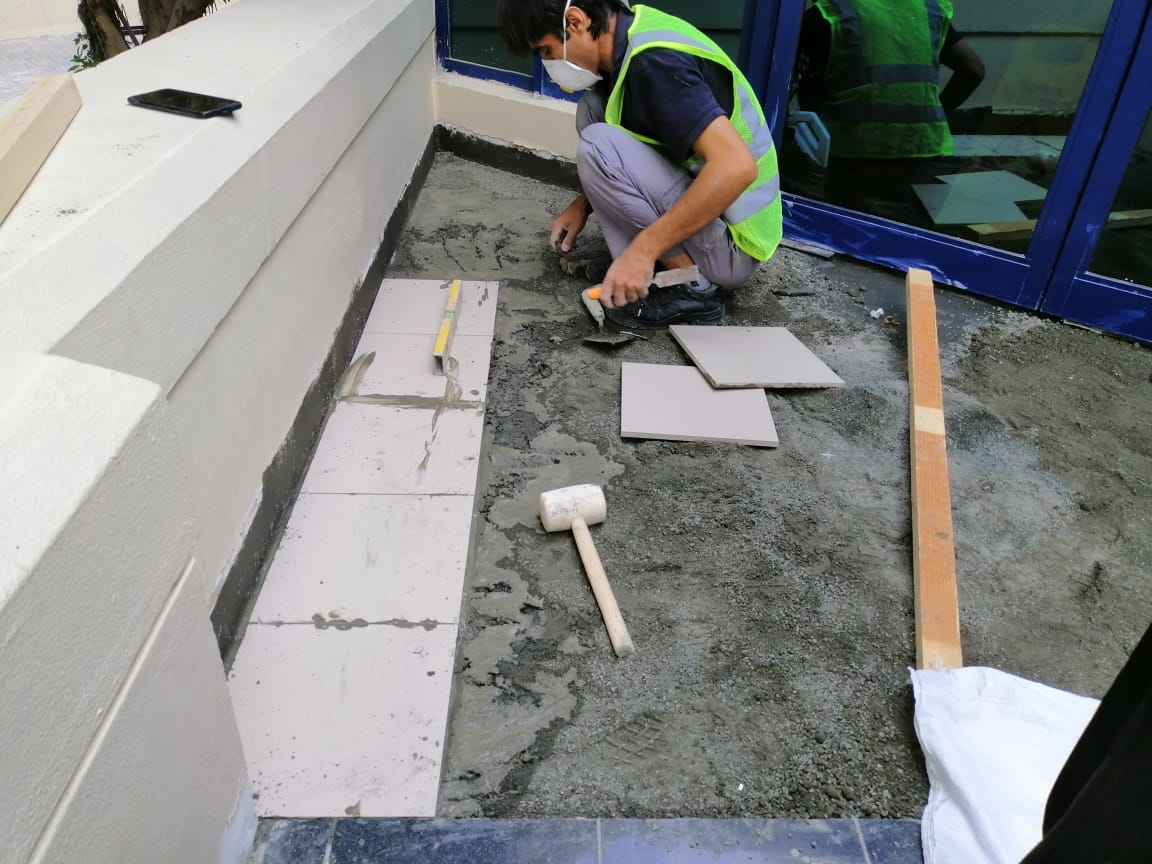 Waterproofing and Tile Replacement Work Jumeiraj Creekside Hotel